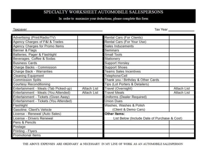 Anchor Tax Service - Auto sales rep